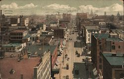 Looking up 17th Street from Union Station Postcard