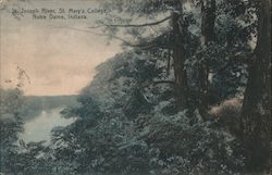 St. Joseph River, St. Mary's College Postcard