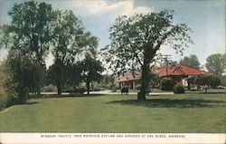 Missouri Pacific - Iron Mountain Station and Grounds Postcard
