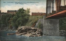 """Little Rock"" After Which the City was Named, on the Arkansas River"