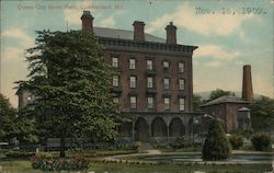 Queen City Hotel Park Postcard