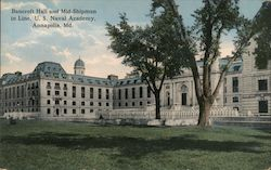 Bancroft Hall and Mid Shipmen in Line, U.S. Naval Academy