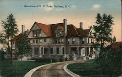Residence of B.N. Duke Postcard