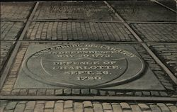 Plate commemorating the signing of the Mecklenburg Declaration of Independence, Center of Public Square, Charlotte, N.C.