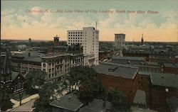 Sky Line View of city Looking North from Court House Postcard
