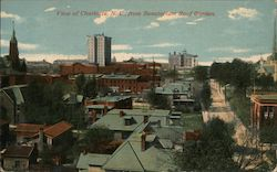 View of Charlotte, N.C. from Sanitarium Roof Garden Postcard