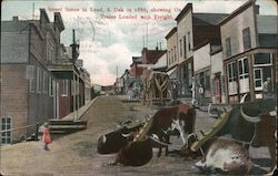 Street Scene in Lead Postcard