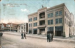 Elk's Building Library and Club Postcard