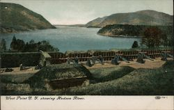 View Showing Hudson River Postcard