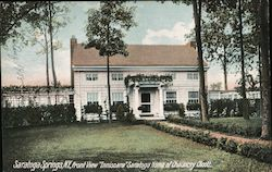 "Front View ""Inniscara"" Saratoga Home of Chauncey Olcott"