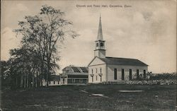 Church and Town Hall Postcard