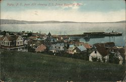Digby, N.S., from Hill showing S.S. Prince Rupert at Pier.