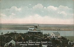 Casino on Mt. Beacon Showing Hudson River Postcard