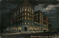 Monticello Hotel (at night) Postcard