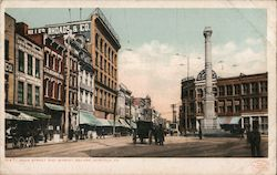 Main Street and Market Square Postcard