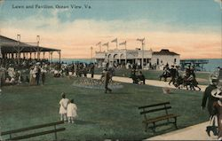 Lawn and Pavilion Postcard