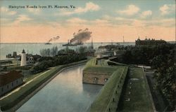 Hampton roads from Ft. Monroe, Va. Bird's Eye View