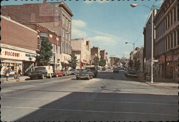 Broadway at Fourth Street Logansport Indiana