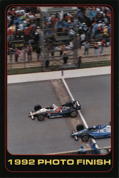 1992 Photo Finish Indianapolis Auto Racing
