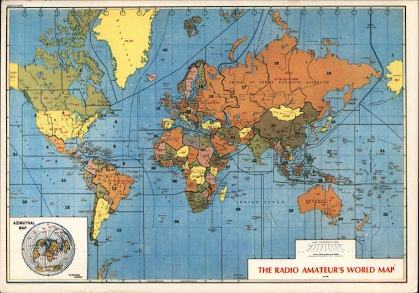 The Radio Amateur's World Map Maps