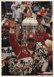 Rick Mears Winner Of 1991 Indianapolis 500 Race With Traditional Bottle Of Milk Postcard
