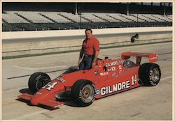 A.J. Foyt, Jr., and Race Car Postcard