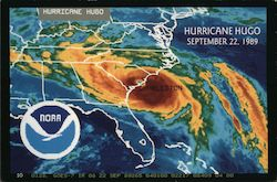 Map of Hurricane Hugo, September 22, 1989