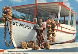 St. Nicholas Sponge Boat and Diver on the Dock