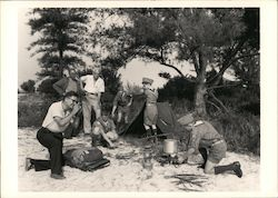 Boy Scouts Setting Up Camp, 1958