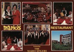 Mario's Restaurant, Featuring the Mario Singers Postcard