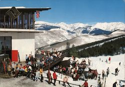 Sundeck At Mid Vail Restaurant In Vail Colorado Postcard