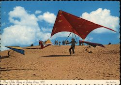 Hang Glider Flying at Jockey Ridge Postcard