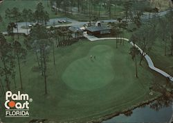 Clubhouse and Putting Green of the Palm Coast 18-Hole Championship Golf Course