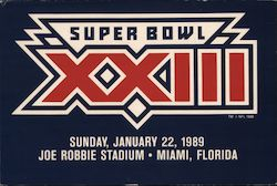 Super Bowl XXIII, Sunday, January 22, 1989, Joe Robbie Stadium