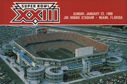 Superbowl XXIII Sunday, January 22, 1989 Joe Robbie Stadium