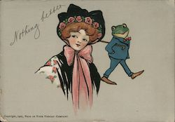 Woman and Frog - Nothing Better Postcard