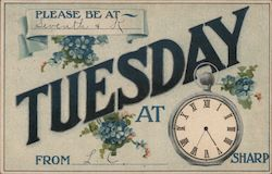 RSVP Reminder Tuesday Postcard