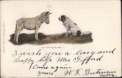 "A Donkey and A Dog, ""It's up to you."""