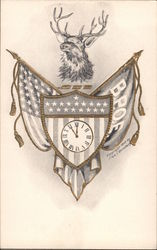 B.P.O.E. - Elks club symbolism is pictured