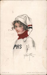 Young woman in PHS uniform - Phoenix High School?