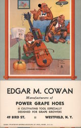 Command Performance -Monkey Playing the Cello, Lawson Wood Postcard