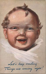 Laughing Baby Postcard