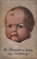 Baby Crying Postcard