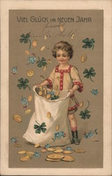 German New Year - Child with Money