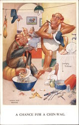 Monkeys Doing Dishes