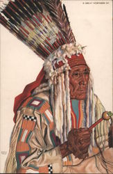 "PORTRAIT OF ""ANGRY BULL"" INDIAN OF BLACK FOOT NATION"
