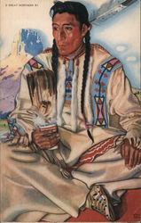 Middle Rider - Blackfeet Indian Brave