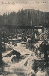 Deception Falls, WA on the Great Northern Railroad Line