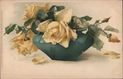 Still Life - Vase with Yellow Roses