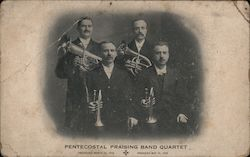Four Men Musicians Instruments Pentecostal Praising Band Quartet Organized March